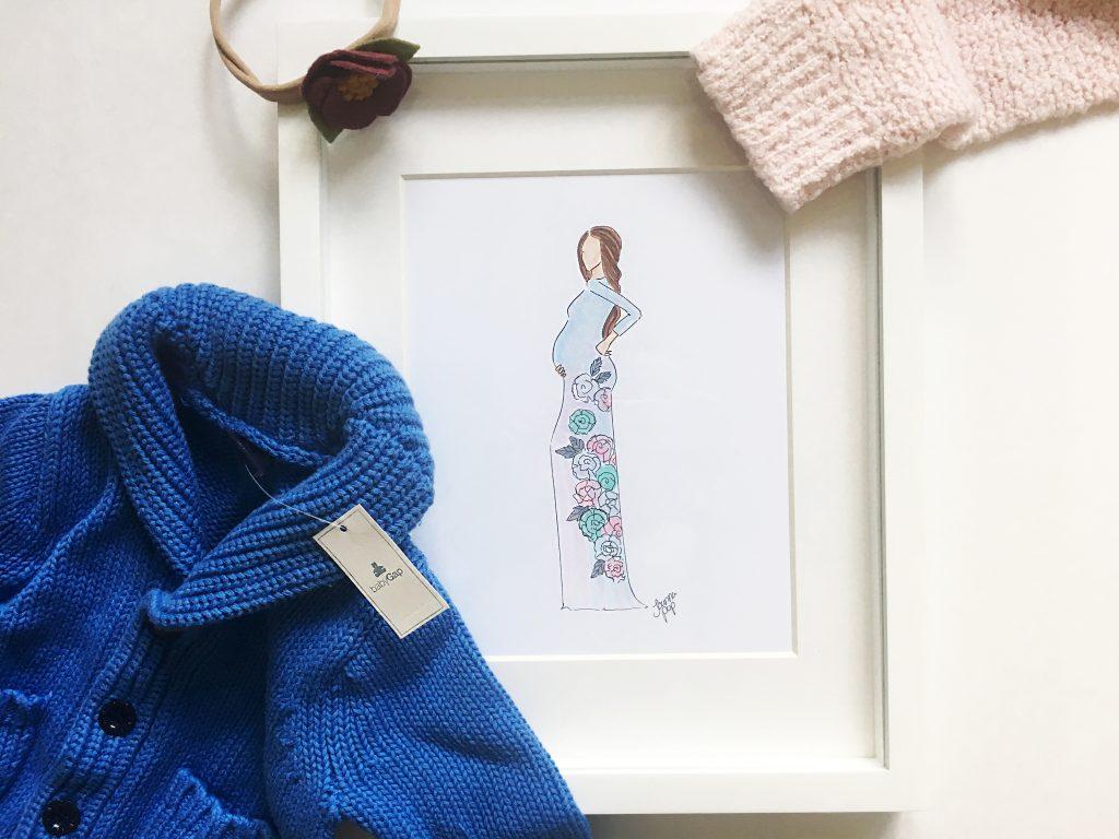 custom pregnant sketch by Joanna Pop