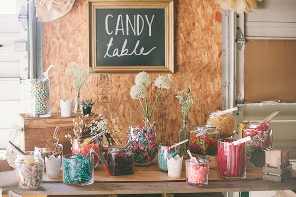 rustic candy bar