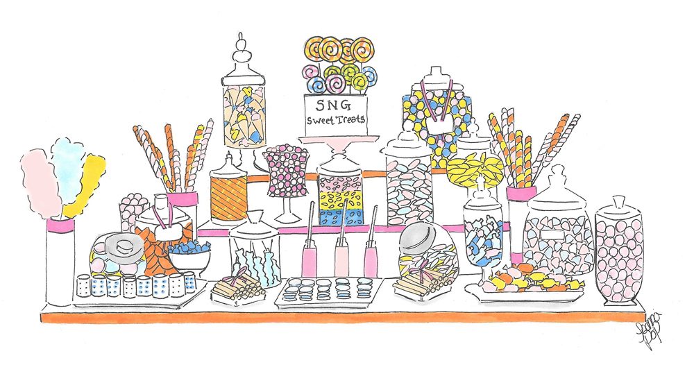 Joanna Pop candy bar illustration