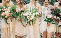 flower crowns boho bridal party