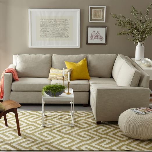 grey sectional west elm
