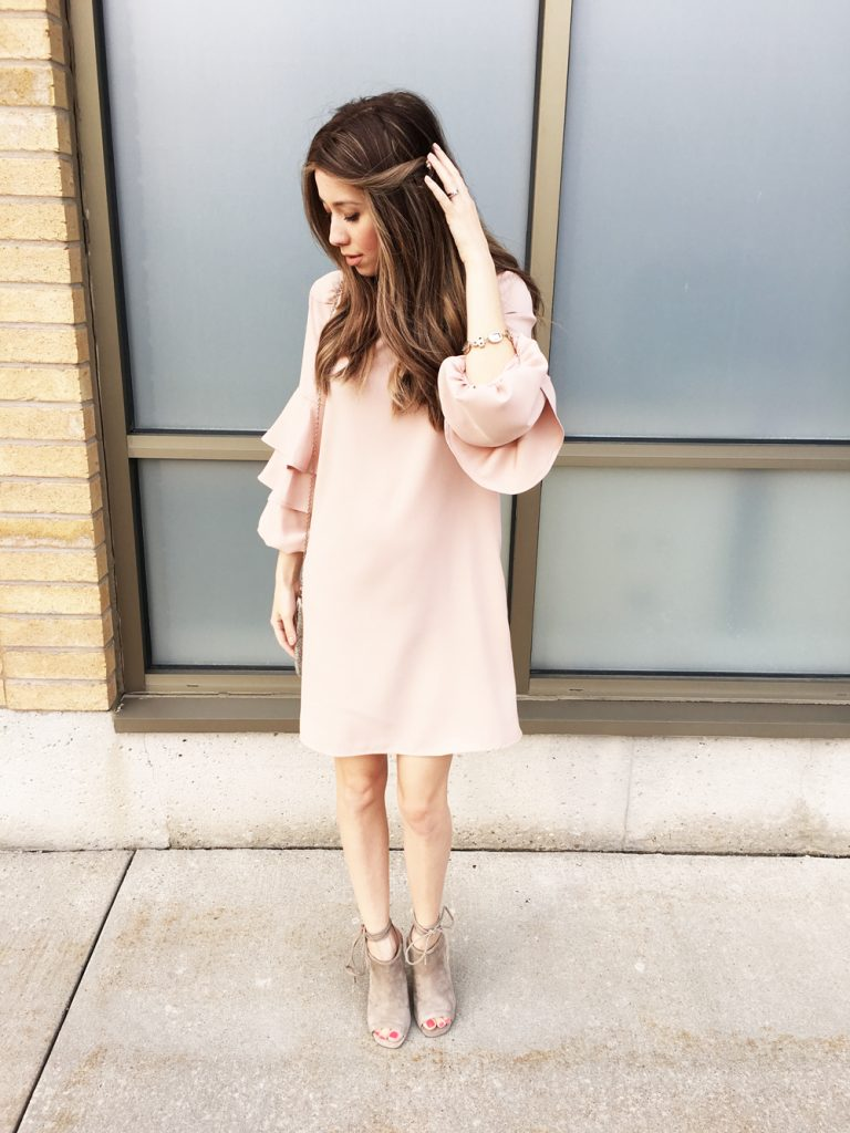 Zara Frilled-Sleeve Dress