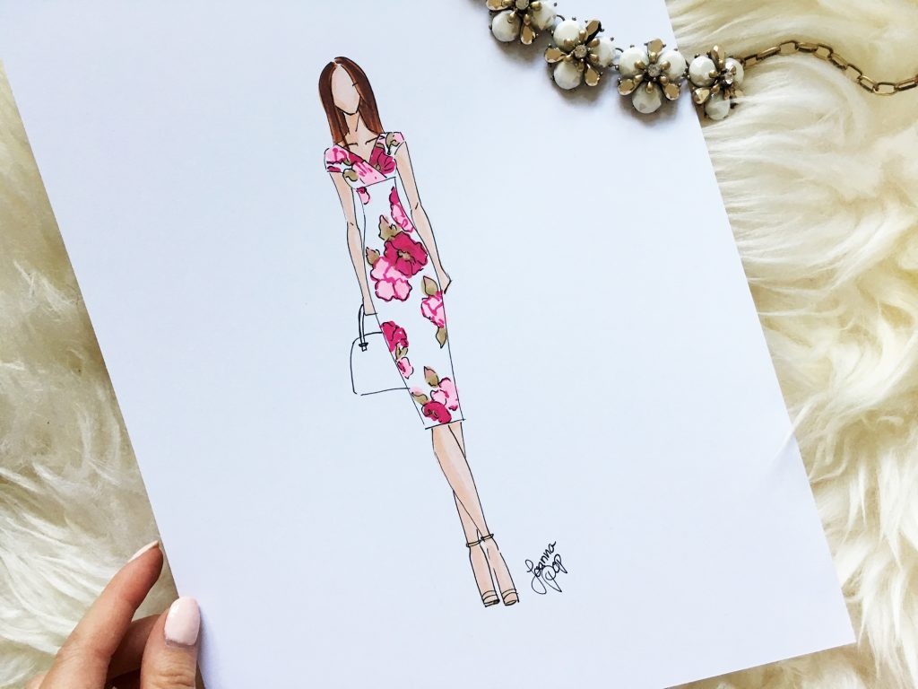 Joanna Pop Fashion Illustration for Tiffany Rose Maternity