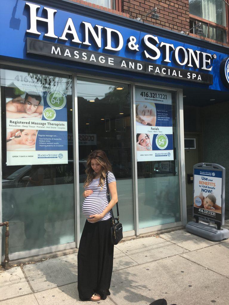 Prenatal Massage Hand & Stone College St. Toronto