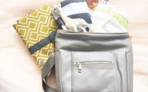Fawn Design Mini Diaper Bag in Gray